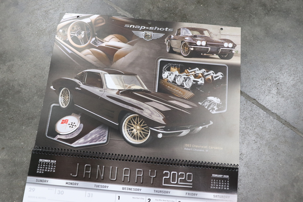 January 2020 calendar of eddies Rod and custom