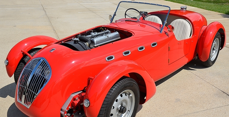 Eddie's Rod and Custom 1950 Healey Silverstone